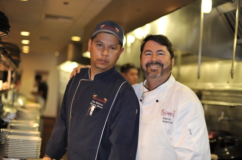 Jose takes his job very seriously.  He's a fantastic chef!