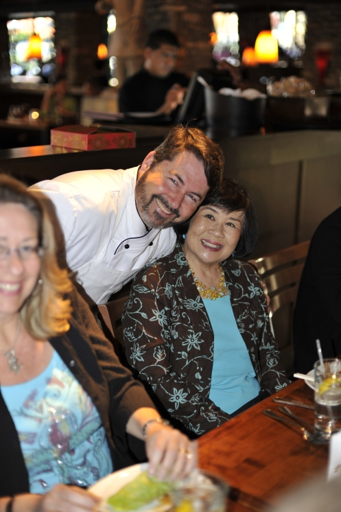 Wei-ling, Steve's teacher and friend, and her husband, Bock, were Steve's surprise guests.