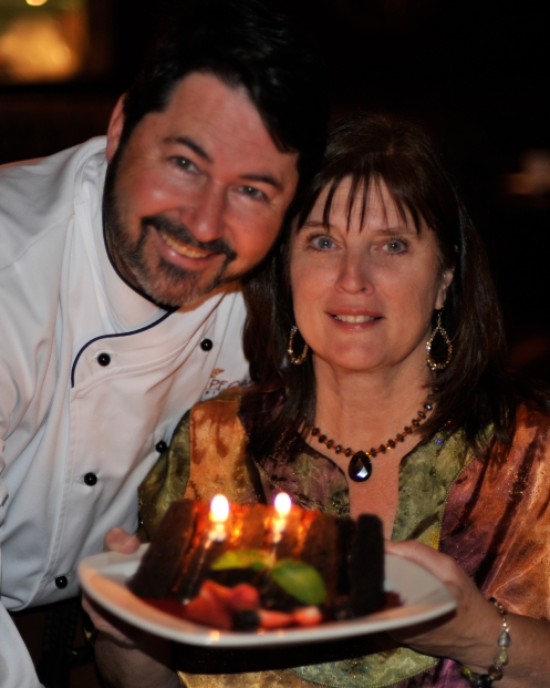 Steve and I at our 23rd anniversary party at PF Chang's, where Steve had the opportunity to cook with the Chef's and see what it was like behind the scenes.  He had a great time!!